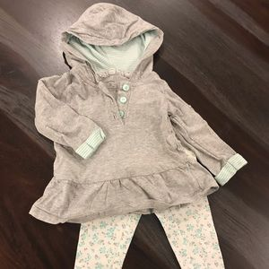 Carters  baby girls leggings and sweater set